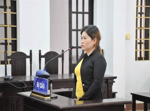 Bà Dương Thị Lanh tại phiên tòa ở tỉnh Đăk Nông hôm 23/8/2019