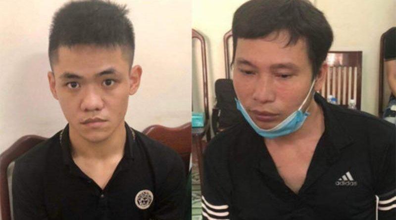 2 đối tượng Nguyễn Văn Tài (trái) và An Ngọc Hòa