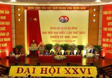 Bí thư Thành ủy Hà Nội Vương Đình Huệ phát biểu chỉ đạo Đại hội. Ảnh: TTXVN