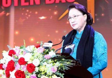 Chủ tịch Quốc hội Nguyễn Thị Kim Ngân phát biểu tại chương trình
