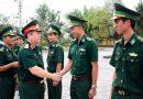 Thượng tướng Nguyễn Trọng Nghĩa tới thăm một đơn vị quân đội.